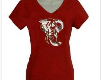 Elephant Shirt - silver foil