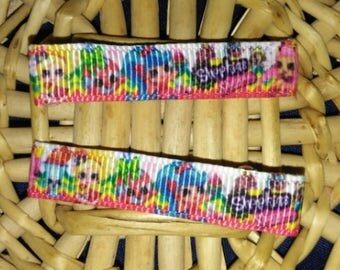 Shopkins lined clips