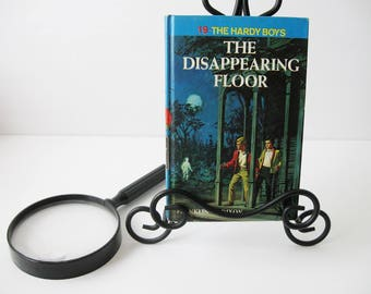 Hardy Boys Book #19, Vintage Hardy Boys Books The Disappearing Floor by Franklin W. Dixon, Mystery Books For Teens Tweens 1960s, Book Decor