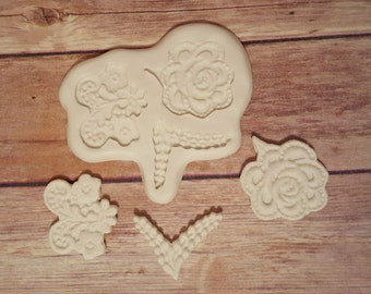 Lace Flower Designs Silicone Mold #2