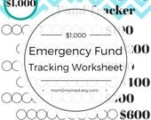 Starter Emergency Fund Tracker, Baby Step One Debt Freedom Tracker