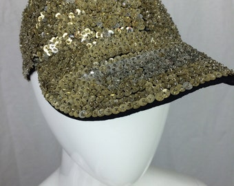 Silver Gold Sequin Baseball Hat 90s Hat Party Hat
