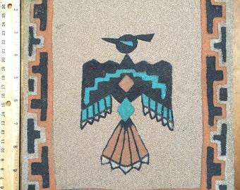 Indian Sand Art, Native American Thunderbird