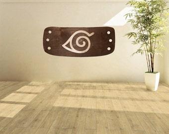 Wood Konoha Leaf Village Sign - Naruto Wall Decor - Manga Wall Art - Arthouse Home Decor - Anime World