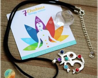 SALE!7 Chakra necklace, OM Symbol, Reiki healing Necklace, Chakra necklace, Spiritual healing necklace for Chakra balancing, 7 chakras