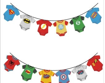 Superhero Avengers Banners Baby Shower Birthday Party Decorations Kids Event & Party Supplies Birthday Party Decorations Kids