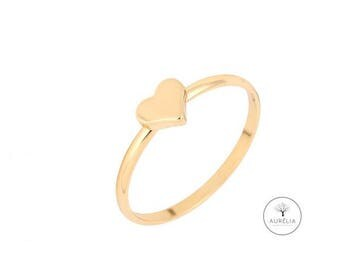 """Gold Ring """"Heart"""""""
