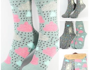 Women's Cute Animal Pattern Mixed Cotton Socks