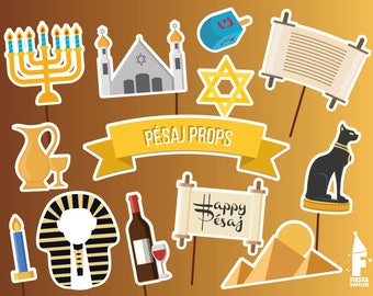 Jewish props, Passover party photobooth props, Pésaj Photo Booth Props, Printable passover party Props, Passover props, judaism props