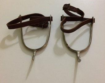 Vintage 1940's Riding Spurs Made in Peru