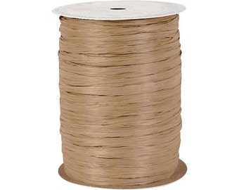 Kraft Paper Raffia Ribbon   250 yards, gift wrapping, wedding favors, craft projects