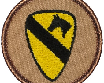 First Cavalry Patch (596) 2 Inch Diameter Embroidered Patch