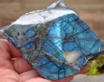Labradorite Half Polished Crystal Specimen - 1204.52