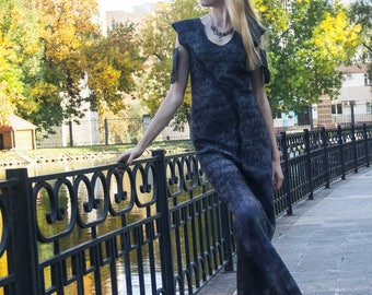 "Felted dress ""Black pearl"""