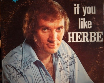"HERBE SMITH: If You Like Herbe 12"" Vinyl LP (1977) Personally Autographed Front Cover!  So Darlin (1959 w/ Jordanaires,Elvis' backup group!)"