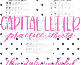 Modern Calligraphy - THE CAPITALS PACKET