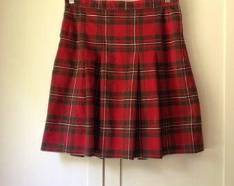 Vintage plaid skirt | Etsy