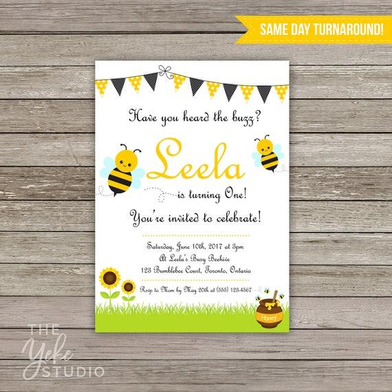Bee party invitation bumblebee birthday party bee birthday il570xn filmwisefo
