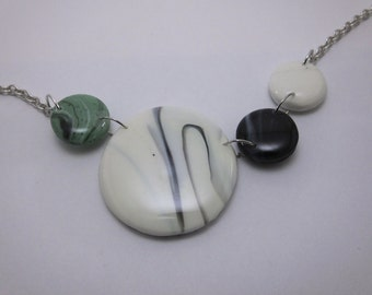 Polymer Clay Marble Necklace