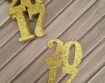 2017 Confetti Gold Glitter, 2017 Graduation Confetti, 2017 Confetti