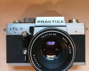 Vintage Praktica LTL 3 SLR 35mm Film camera with Pentagon 50mm lens