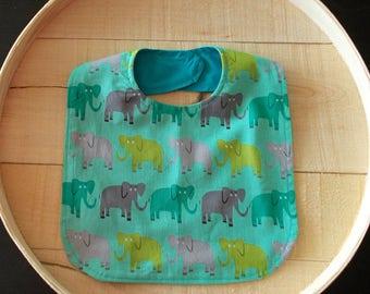 African Elephant Print Baby Bib