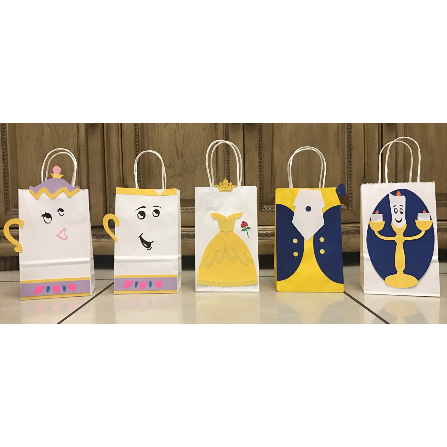 Mrs potts chip christmas decoration - Beauty And The Beast Party Bags Belle Beast Chip Mrs Potts
