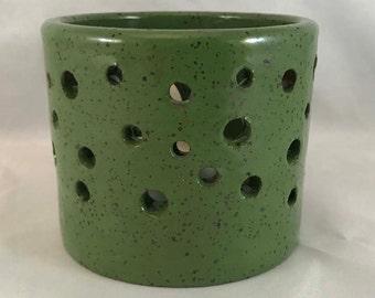 Bright Green Tealight/Votive Candle Holder - Stoneware