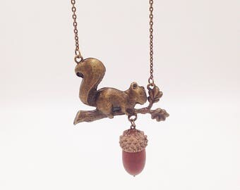 "Nut "" Nut scouting"" Genuine acorn chain bronze"
