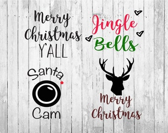 Christmas svg, santa cam svg, merry christmas svg, christmas svg files, merry christmas y'all svg, winter svg, christmas cut files, deer