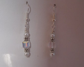 Earrings wedding Pearl glass