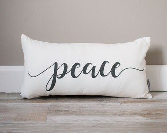 Peace Pillow | Christmas Pillow | Holiday Pillow | Holiday Gift | Christmas Gift | Rustic Decor | Holiday Decor | Christmas Decor