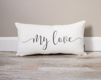My Love Pillow | Monogrammed Valentine's Gift | Gifts For Her | Valentine's Day Gift | Rustic Decor | Monogrammed Pillow | Valentines Decor