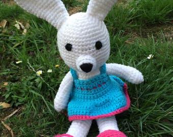 Dress up bunny soft toy