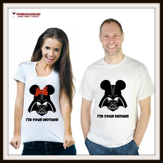 MINNIE MICKEY SHIRT. Darth Vader Shirt. Disney Couple Shirt.