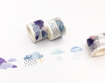 Cloud and Rain Washi Tape