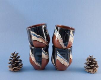 Handless Coffee Mug Tea Mug Stoneware By Vintageeuropedesign