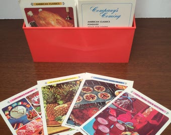 Betty Crocker Recipe File Library From 1971 / Melon Recipe Box