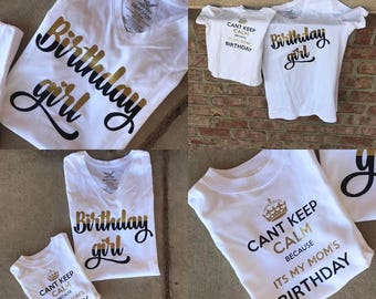 Matching Mom and Son/Daughter Birthday Shirts