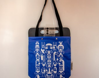 Tote Bag African blue Kiss