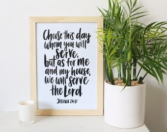 We Will Serve the Lord Print