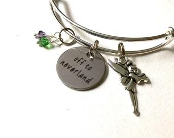 Peter Pan Bracelet || Tinkerbell Braclet || Neverland Braclet