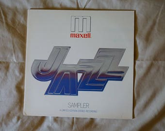 Vintage, 1970's,  Maxell Jazz Sampler,  Vintage Music,  Vintage Collectible,  Ready To Ship,  LP Gifts, Vinyl Gifts