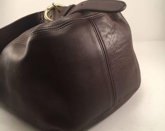 SALE Vintage Coach Brown Leather Sling Bag/ Shoulder Bag / Backpack / Style 4160 / EUC