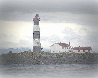 Light House, Race Rocks, Victoria BC,  Fine Art Photography, Home Decor, Wall Art, Canvas Gallery Wrap