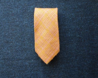 Gieves and Hawkes Tie, Silk Tie, Mens Necktie, Orange Necktie