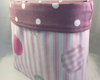Fabric Storage Basket, Organiser, Storage Basket,  Baby Gift, Baby Shower Gift, Drawer Tidy