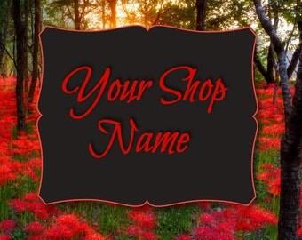 Banner Design, Shop Banner Set, Graphic Design, Cover Photo, Custom Banner, Premade Banner, Floral Banner Set, Tiger Lily Banner,