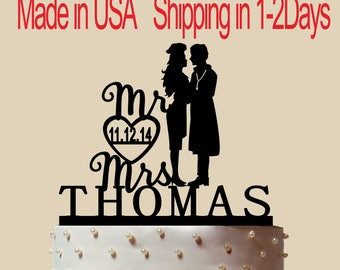 Doctor And Woman Cook Cake Topper, Personalized Cake Topper, Wedding Cake Topper,  Shower Topper, Wedding Decoration, Silhouette,  CT192