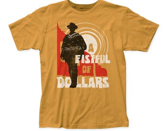 Fistful of Dollars Sunset Soft 30/1 Men's Cotton Tee (FFD04) Ginger